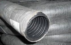 Дренажная труба диаметром 110 мм в геотекстиле